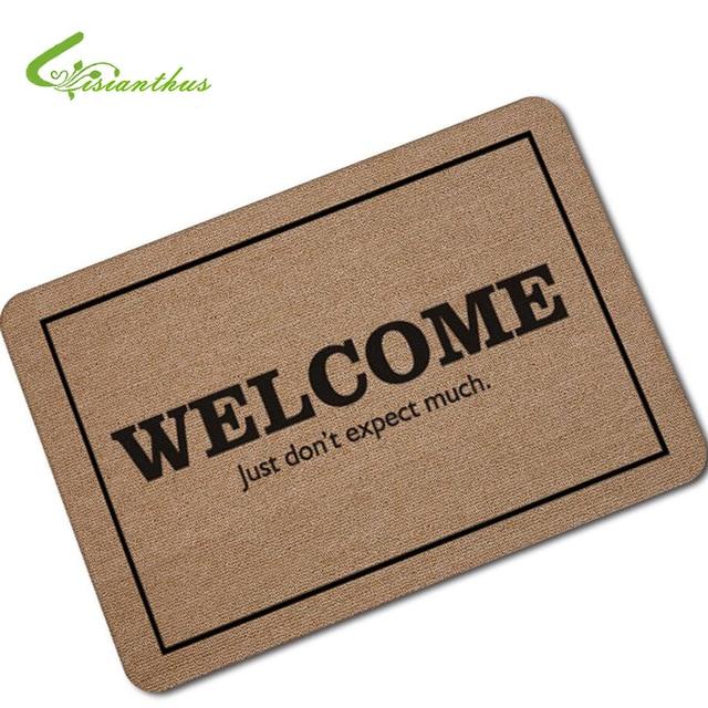 Doormat Entrance Floor Mat Funny Doormat Welcome Just Donu0027t Expect Much Door  Mat Decorative