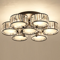 American Lustre Crystal Led Chandeliers Black Metal Living Room Led Ceiling Chandelier Lights Bedroom Led Chandelier Lighting