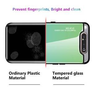 Image 5 - שיפוע זכוכית טלפון מקרה לסמסונג גלקסי A80 A90 A 80 90 מקרה לסמסון SM A805F 90A 80A כיסוי מעטפת בטיחות Fundas קאפה