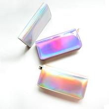Горячие Продажи Кожа голограмма кошелек лазерная серебро мешок маленькие женщины кошелек женский Мини Сцепления кошелек дизайнер женский кошелек