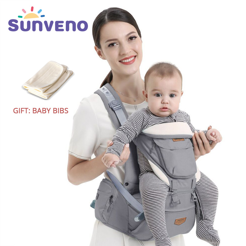 SUNVENO Ergonomic Baby Carrier Infant Baby Hipseat Waist Carrier Front Facing Ergonomic Kangaroo Sling for Baby Travel 0-36M armband for iphone 6