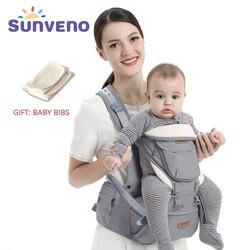Sunveno ergonômico portador de bebê infantil hipseat cintura transportadora frente enfrentando ergonômico canguru estilingue para o bebê viagem 0-36 m