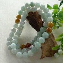 Natural Myanmar Emerald Bracelets DropShipping Luck Amulet  jade Bracelet & bangles For Men And Women Gift
