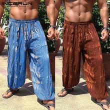 Verano Boho hombres pantalones holgados ancho piernas Fitness Joggers Tie  Dye cintura elástica playa Hawaii vacaciones c2eb71216ea