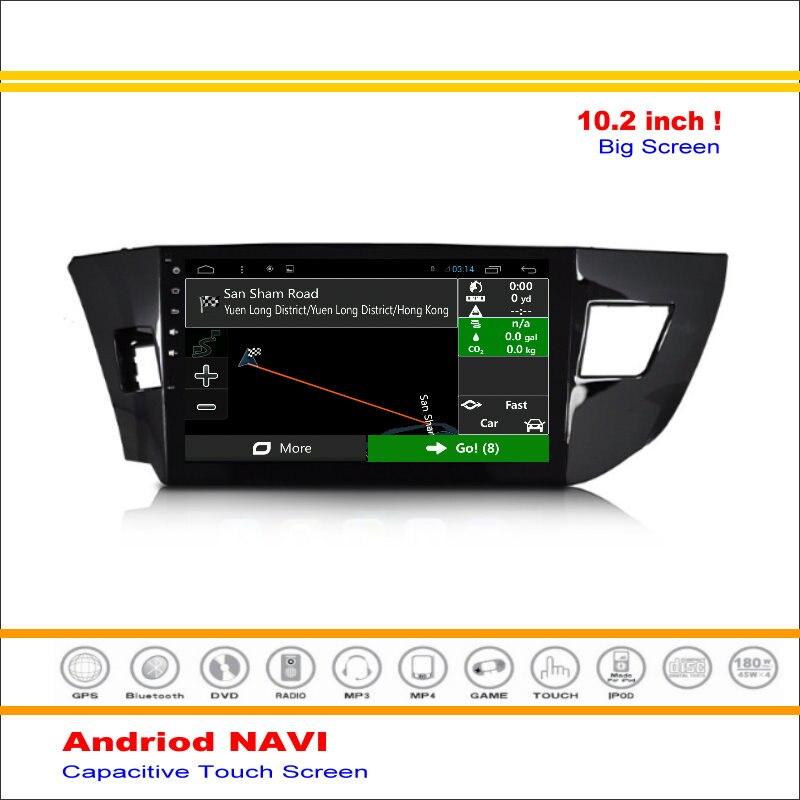 Android Sistema de Navegación GPS del coche Para Toyota Corolla (E170)/Toyota Le