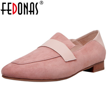 FEDONAS Fashion Cute Women Suede Leather High Heels Casual Shoes Woman Elegant 2019 Spring Summer Casual Shoes Ladies Pumps