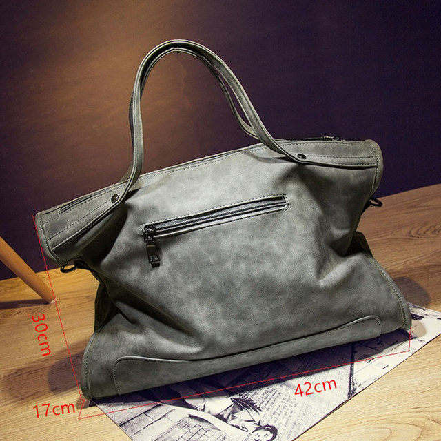 2017 Leather women bag Vintage style