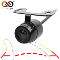 Sinairyu Intelligent Dynamic Trajectory Tracks Wide Angle CCD Universal Night Vision Waterproof Car Rear View Parking