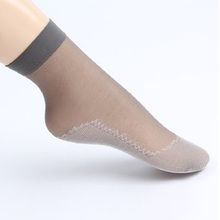 Women Silk stockings solid casual Transparent Breathable Non-slip Short Stockings