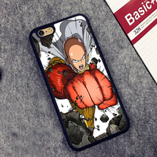 One Punch Man Printed Phone Case Cover Coque For iPhone 6 6S Plus 7 7 Plus 5 5S 5C SE 4 4S
