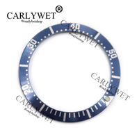 CARLYWET Wholesale High Quality Aluminum Dark Blue With White Writing Watch Bezel Insert For 2220