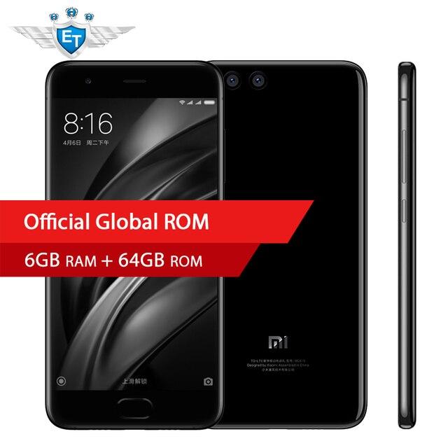 Оригинал Сяо Mi 6 Mi 6 смартфон 6 ГБ 64 ГБ Snapdragon 835 Octa core 5.15 ''1920X1080 18 Вт Быстрая зарядка NFC OTA Android 7.1