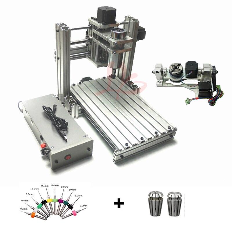 5 axes CNC Routeur BRICOLAGE Mini 4020 Métal 3 Axes CNC Machine De Fraisage 4 Axes Machine
