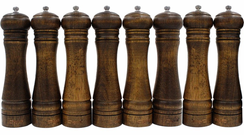 Solid Wood Pepper Grinder Set