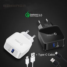 QC3.0 USB Fast Charger Adapter TYPE-C fast charging For Samsung Galaxy A3 A5 Elephone U / U Pro Z1 / BQ Aquaris X / X Pro(China)
