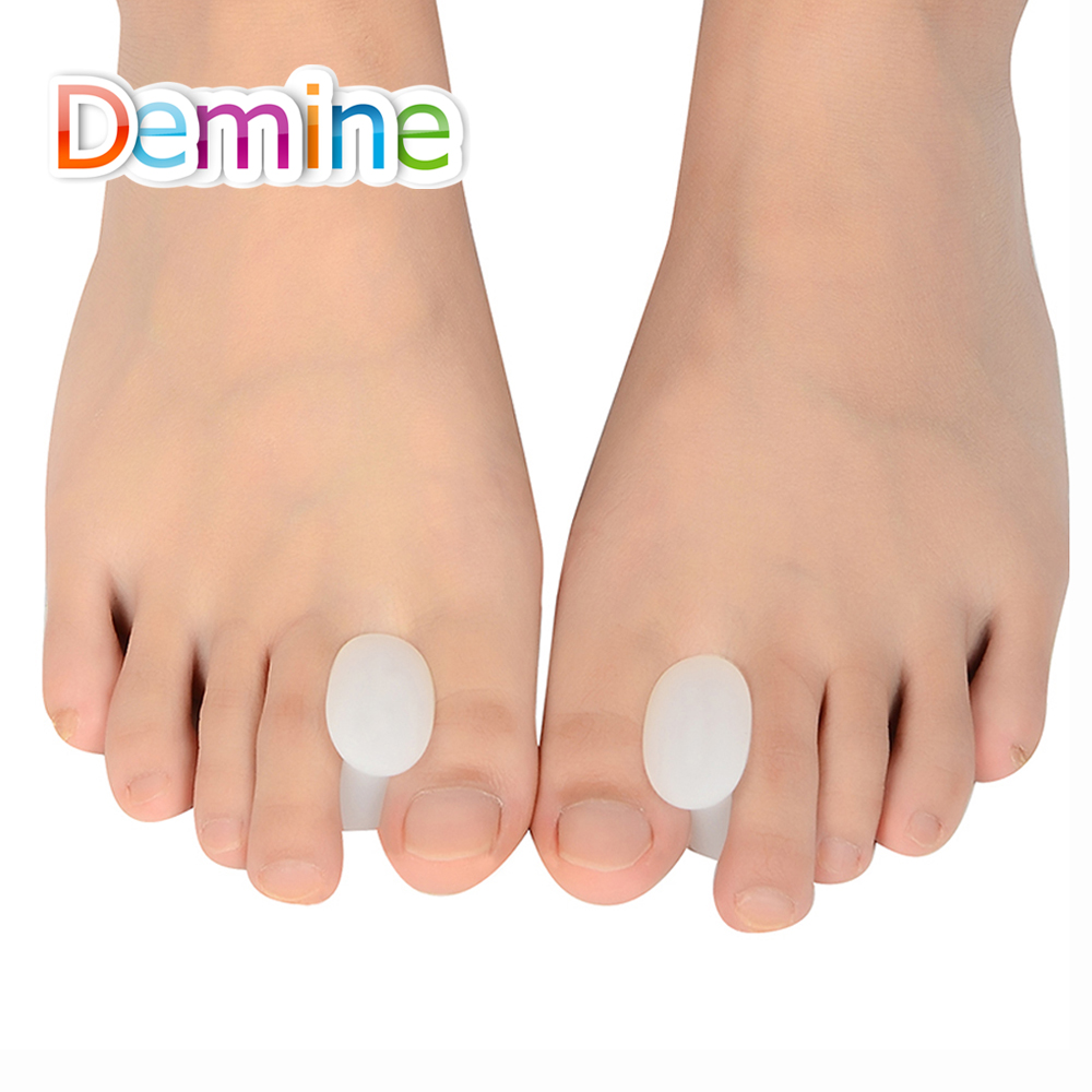 Demine Silicone Gel Toe Separator For Corrective Hallux Valgus Thumb Overlapping Repair Bone Protector Orthopedic Insert Pads