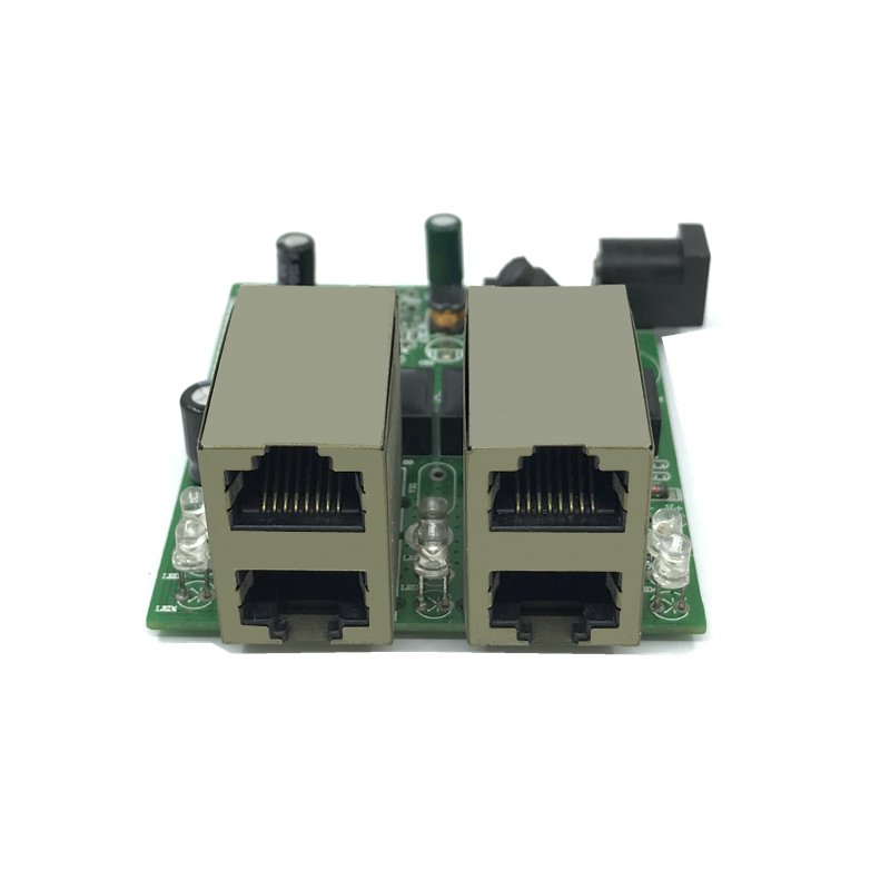 Fast Switch Mini 4 Port Ethernet Switch 10 / 100mbps Rj45 Network Switch Hub Pcb Module Board For System Integration Module