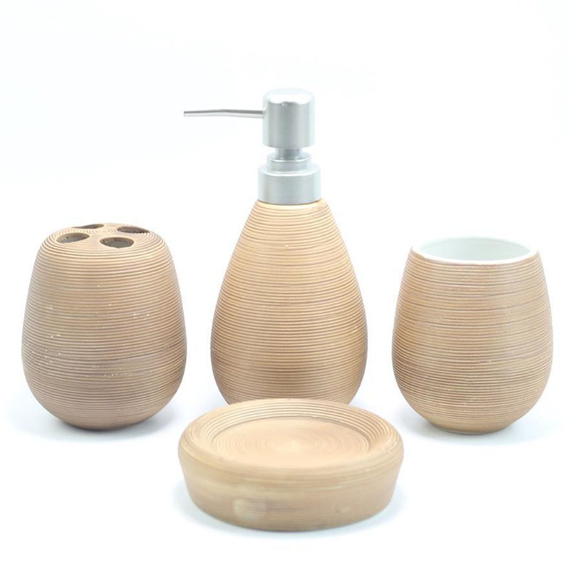 Bathroom accessories brushed texture bathroom set of 4 sets of toiletries ceramic set crafts bathrooms decoration wedding gifts