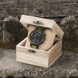 Image 5 - BOBO BIRD Men Watches Personalized Wood Watch Male for Him Handmade Lightweight Chronograph Date Causal relojes military