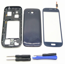 For Samsung Galaxy Grand Duos GT-i9082 i9082 i9080 Housing Front Chassis Frame +Battery Cover+Touch Screen Digitizer Sensor+Kits top quality lcd display panel screen for samsung galaxy grand duos i9080 i9082 replacement repair parts free shipping