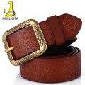 [MILUOTA] Alta calidad de la manera Clásica 100% cinturones de cuero genuino para las mujeres de la vendimia Talló la correa marca correa LW191