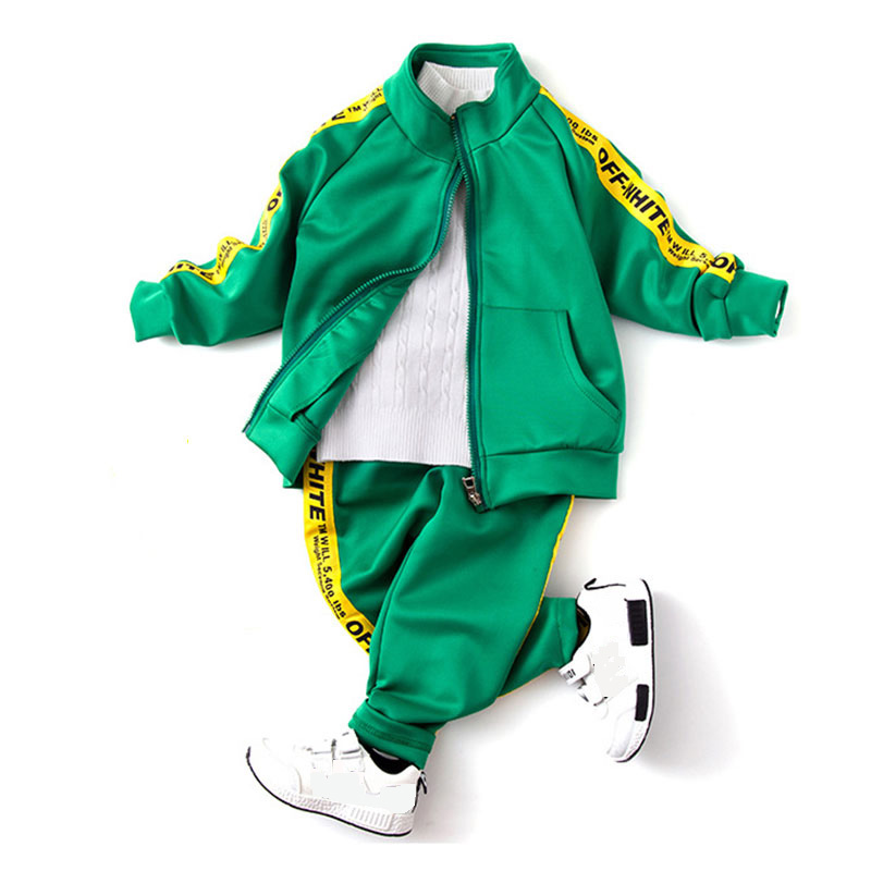 New 2017 Autumn children clothing sets Casual kids girls boys zipper jacket pants sets Suit Spring Costume For Kids Coats Sport