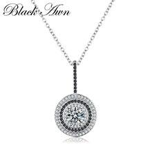 Классическое тонкое Настоящее серебряное ожерелье 925 пробы, Женские Ювелирные изделия, Круглые женские ожерелья и подвески P074