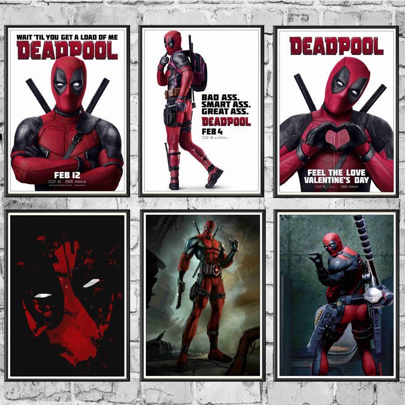 Marvel Film Comic Posterler Deadpool Kaliteli Boyama Kaplı Poster