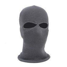 2/3 Hole Full Face Cap Outdoor Balaclava Riding Motorcycle Mask Knitting Face Mask Ski Mountaineering Head Cover(China)