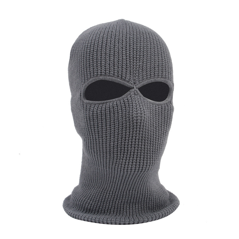 2/3 Hole Full Face Cap Outdoor Balaclava Riding Motorcycle Mask Knitting Face Mask Ski Mountaineering Head Cover