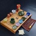 Керамический чайный сервиз  чайный сервиз  изысканный бамбуковый ящик для хранения воды  чайный поднос  дренажный чайный сервиз для дома