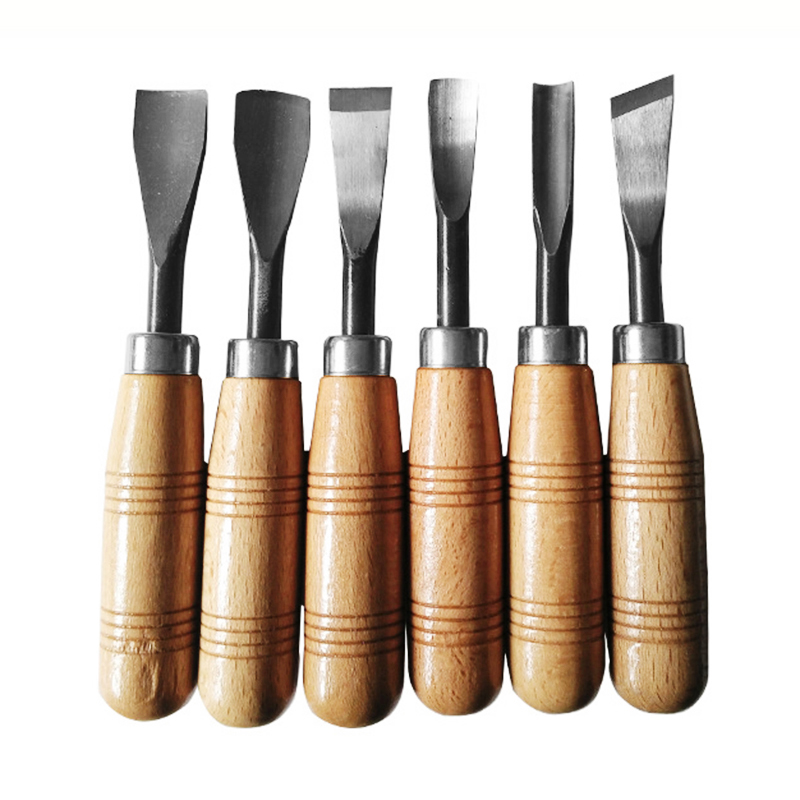 6pcs Wood Carving Chisel Professional Knife Hand Tool Set For DIY Detailed Carving Woodworkers Gouges
