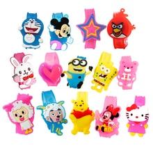 Cartoon font b LED b font font b Watch b font Children s toys luminous hand