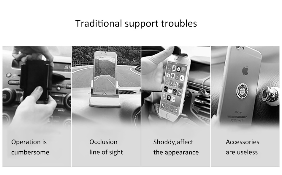 !ACCEZZ 360 Air Vent Mount For Huawei P20 iPhone 8 7 6 6s Plus Xiaomi 5 Samsung S8 S9 Degree Adjustable Gravity Car Phone Holder (2)
