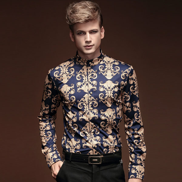 91d9c0692dc50 FanZhuan Free shipping new male 2015 autumn winter men clothes baroque  style long-sleeved men casual men shirt personality 14281