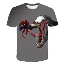 New Arrive Popular Anime Series Movie Venom Men Women 3D Printing Harajuku Most Fashion T Shirt Streetwear Casual Tops