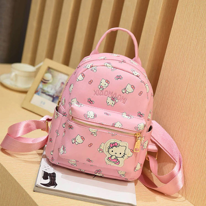 721a64537fc3 Cartton Backpack For Girls For School Leather Backpack Hello Kitty Children  Mini Backpack Travel Bags Women Shoulder Bags-in School Bags from Luggage    Bags ...
