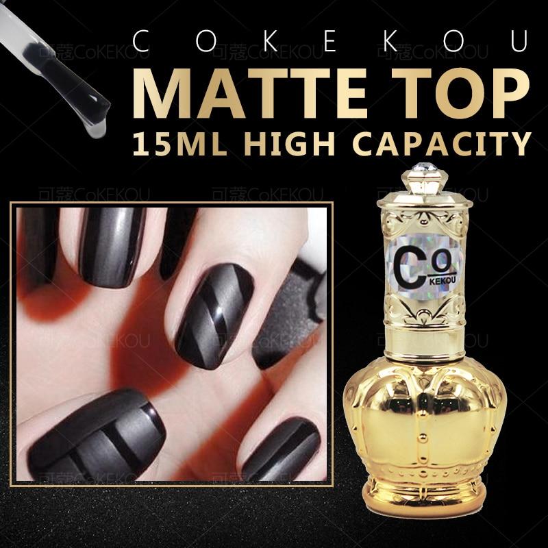 CoKEKOU Ny Nail Gel Polsk Soak Off UV Tempering Top Coat + Base Coat - Negle kunst - Foto 5