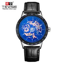 New Hollow Men Watches Top Brand Luxury Leather Strap Watches Business Casual Men Mechanical Watch Full