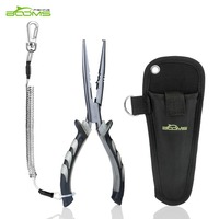 Booms Fishing F3 Stainless Fishing Pliers Can Split Rings Split Shot Sleeve Crimper And Turning Lure