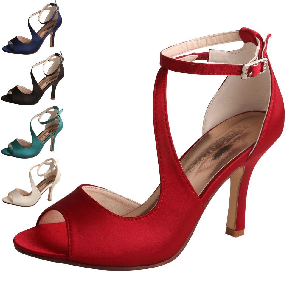 21 Colors Ankle Strap Wedding Party Sandals for Women Bride Heel Shoes Open Toe 21 Colors Ankle Strap Wedding Party Sandals for Women Bride Heel Shoes Open Toe