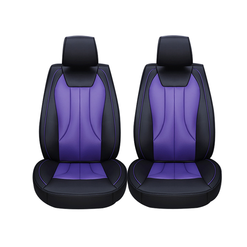 2 pcs Leather car seat covers For Toyota RAV4 PRADO Highlander COROLLA Camry Prius Reiz CROWN yaris car accessories styling kalaisike leather universal car seat covers for toyota all models rav4 wish land cruiser vitz mark auris prius camry corolla