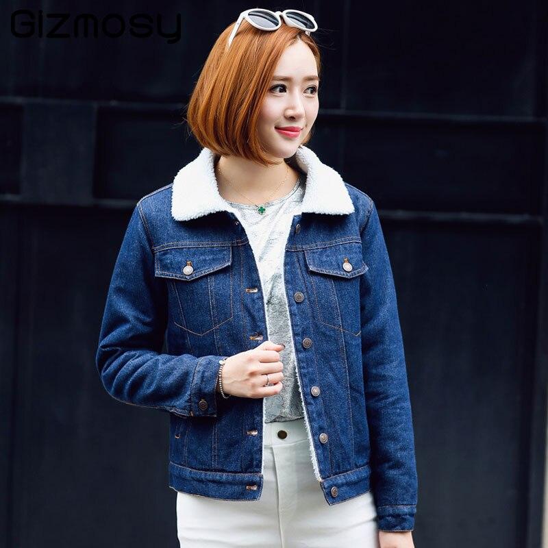 Lâche Hiver Jeans Outwear Denim Bn4270 Parkas Épais Cachemire Bleu Laine Blue Cowboy Vestes Femmes Causalité En Femme D'agneau Manteaux Chaud r70OqrWS