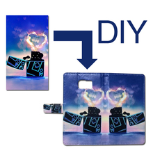 Personalized Custom Cell Phone Flip Cover PU leather Case Protective Holster DIY For Samsung Galaxy S3 S4 S5 S6 S7 Note 2 3 4 5