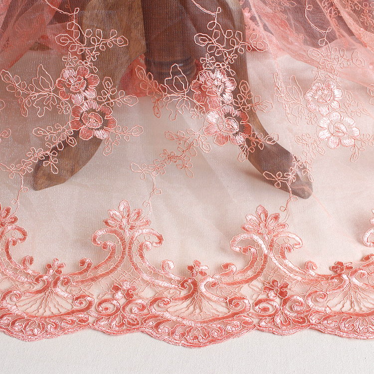 Full frame bones lace accessories wedding dress curtains diy handmade materials embroidery three dimensional flowers fabric
