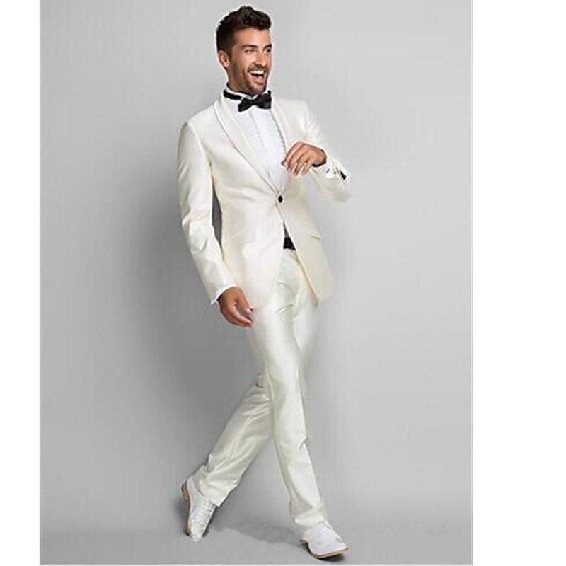 Custom Made Новое Прибытие One Button Slim Fit Свадебные Костюмы мужские Костюмы мужские Жених Смокинги Деловые Костюмы