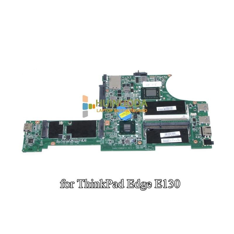 NOKOTION FRU 04Y1362 DA0LI2MB8F0 Main Board For Lenovo Thinkpad Edge E130 X131E Laptop Motherboard SR0U4 i3-2375M CPU DDR3 fru 42w7770 laptop motherboard for lenovo x61 thinkpad mian board 48 4b401 011 t7300 2 0 ghz cpu ddr2