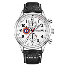 New Design WEIDE WD010 Fashion Brand Watches Mens Leather Sport Date Chronograph Quartz Watch Male Gifts Clock Relogio Masculino цена