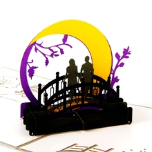3D pop up handmade laser cut vintage cards the Bridges of Madison County creative gifts postcard birthday greeting cards