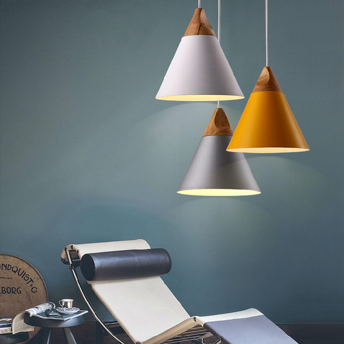 Gentil 1pc European White/Yellow/Grey E27 Pendant Light Modern Simple Wood Pendant  Lamp Bar Counter Lights Cafe Dining Room Decor In Pendant Lights From Lights  ...